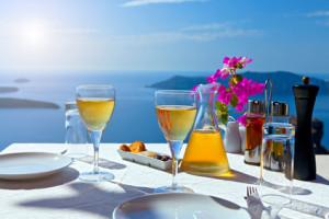 Abendessen am Strand von Kreta